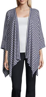 Liz Claiborne Mixed Stripe Wrap