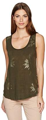 Lucky Brand Women's Metallic Leaf Tank Top