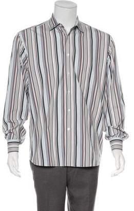 Salvatore Ferragamo Striped Button-Up Shirt