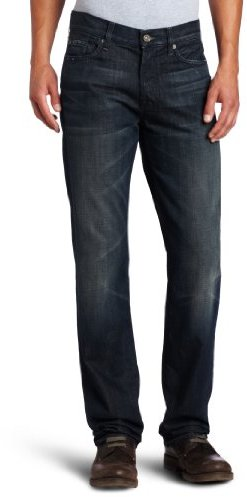 7 For All Mankind Men's Standard Straight Leg Jean in Cedar Stret