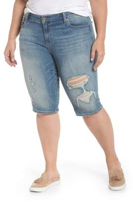 Lucky Brand Ginger Ripped Denim Bermuda Shorts