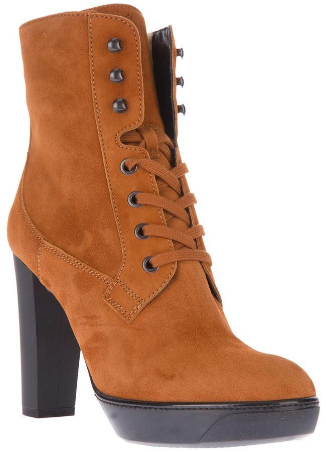 Hogan lace-up boot