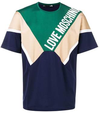Love Moschino panelled colour block T-shirt