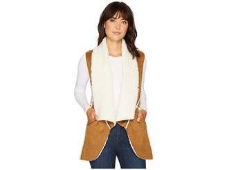 True Grit Dylan by Flannel Sherpa Road Trip Vest with Pockets Women's Vest