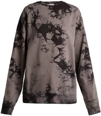 Helmut Lang Logo-print tie-dyed cotton sweatshirt