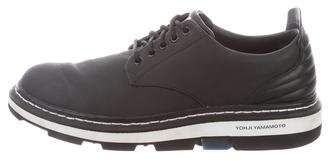 Y-3 Lace-Up Round-Toe Oxfords