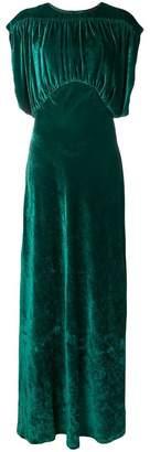 Cavallini Erika velvet maxi dress