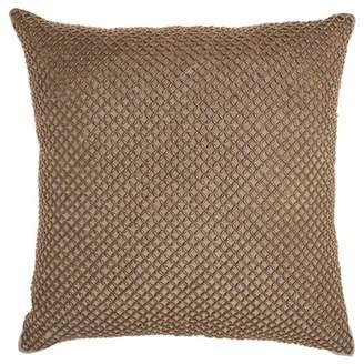 Nourison Inspire Me! Home Decor Beaded Lattice Taupe Throw Pillow