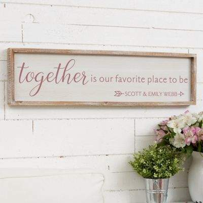 Together...Personalized Barnwood Frame Wall Art