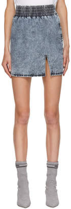 Miu Miu Blue Washed Denim Skirt