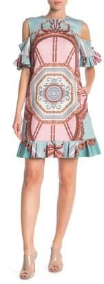 Ted Baker Versailles Cold Shoulder Frill Dress