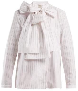Maison Rabih Kayrouz Striped Cotton Poplin Shirt - Womens - White Multi