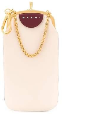 Marni colour block snap top purse