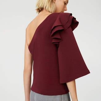 Club Monaco Elyssa Ruffle Top