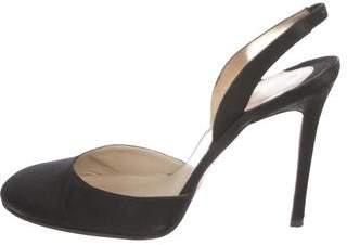 Christian Louboutin Satin Slingback Sandals