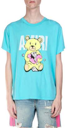 Amiri Men's Short-Sleeve Teddy T-Shirt