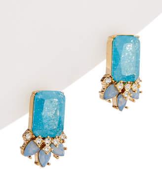 Carolee Crackled Stones Cluster Earring