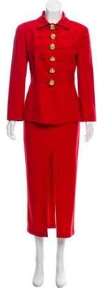 Genny Wool Skirt Pantsuit