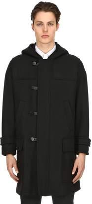 Neil Barrett Oversized Hooded Wool Cloth Coat