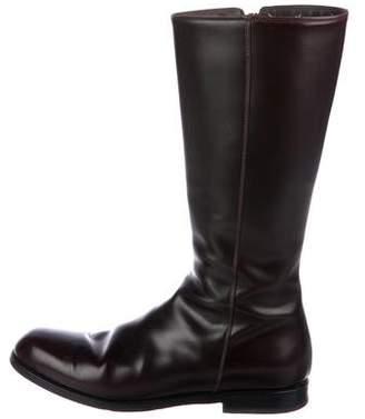 Prada Mid-Calf Leather Boots
