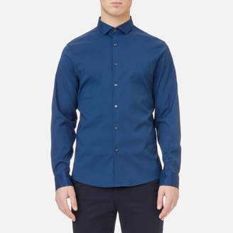 Michael Kors Men's Slim Fit Spread Collar Stretch Nylon Poplin Shirt