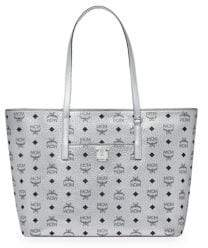 MCM Medium Anya Coated Canvas Shopper Tote
