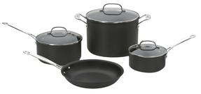 CuisinartHard Anodized Cookware Set (7 PC)