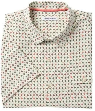 Tommy Bahama Atomic Geo Print Short Sleeve Shirt (Big & Tall)