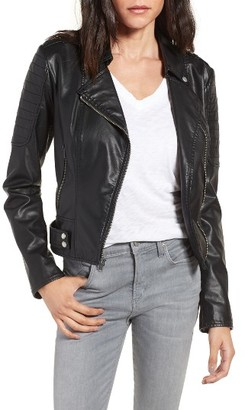 Women's Andrew Marc Leanne Faux Leather Jacket $150 thestylecure.com