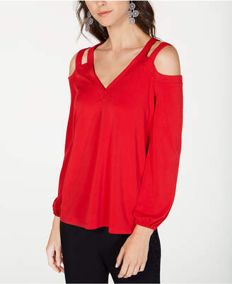 INC International Concepts I.N.C. Cutout Cold-Shoulder Top, Created for Macy's