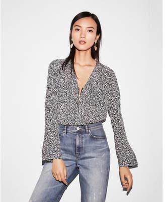 Express two pocket zip front long sleeve shirt