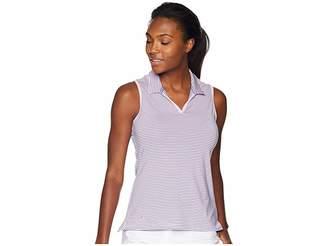adidas Ultimate 365 Stripe Sleeveless Polo Women's Clothing