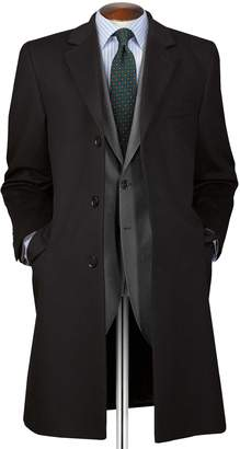 Charles Tyrwhitt Black Wool and Cashmere OverWool/cashmere coat Size 40
