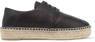 Vince - Cynthia Textured-leather Platform Espadrilles - Black $275 thestylecure.com