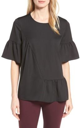 Petite Women's Halogen Ruffle Sleeve Top $69 thestylecure.com