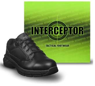 Interceptor Men's Knight Lightweight Utility Boots, Slip Resistant, Black
