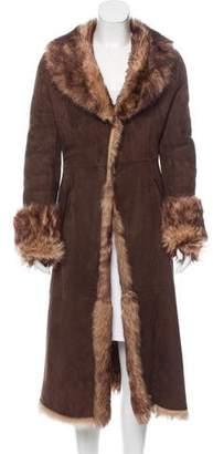 Via Spiga Long Lamb Fur Coat