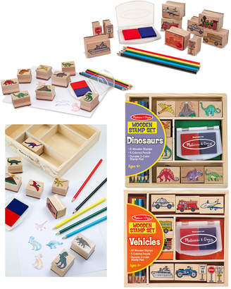 Melissa & Doug Stamp Set Bundle: Dinosaurs & Vehicles