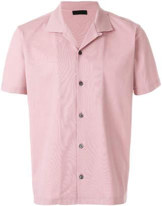 Prada straight hem cropped shirt