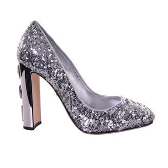 Dolce & Gabbana Silver Glitter Heels