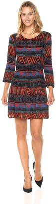 Desigual Women's Dudeleis Woman Knitted 3/4 Sleeve Dress
