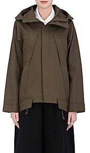 Yohji Yamamoto Regulation Women's Cotton Canvas Hooded Parka-Olive