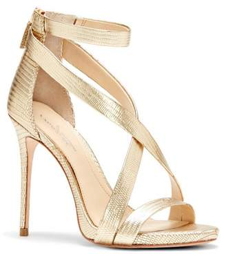 Imagine Vince Camuto Devin2 – Metallic Crisscross-strap Sandal