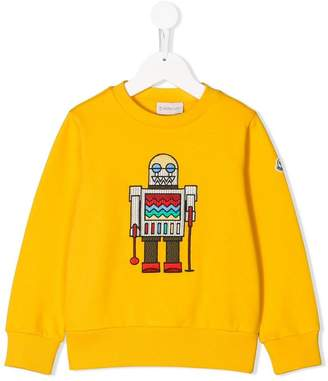 Moncler robot embroidered sweatshirt