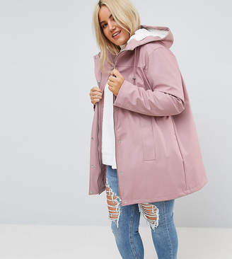 Asos Design Curve Borg Raincoat