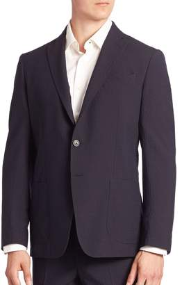 Saks Fifth Avenue Silk Blend Textured Stripe Jacket