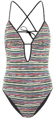 Mare Striped cutout swimsuit