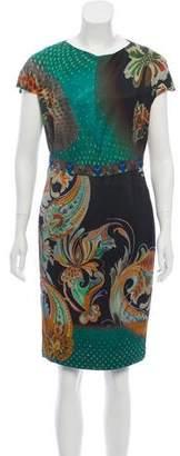 Etro Printed Sheath Dress