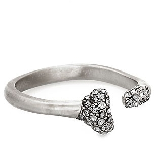House of Harlow 1960 House of Harlow 1960 Bone Ring with Black Diamond Pave in Silver