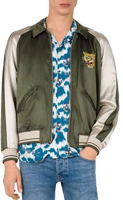 The Kooples The Couples Embroidered Color-Block Bomber Jacket